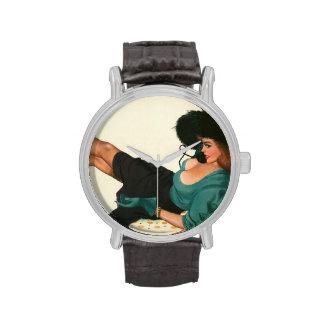 Colorante original 15 del chica modelo del vintage reloj