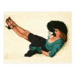 Colorante original 15 del chica modelo del vintage tarjeta postal