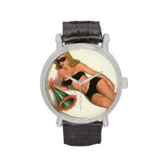 Colorante original 16 del chica modelo del vintage reloj de mano