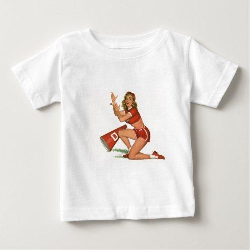 Colorante original 17 del chica modelo del vintage playera para bebé