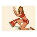 Colorante original 17 del chica modelo del vintage tarjeta postal