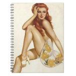 Colorante original 1 del chica modelo del vintage libretas