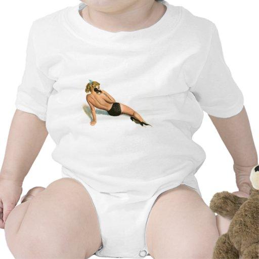 Colorante original 20 del chica modelo del vintage traje de bebé