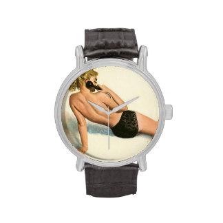 Colorante original 20 del chica modelo del vintage reloj de mano