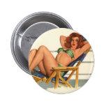 Colorante original 22 del chica modelo del vintage pins