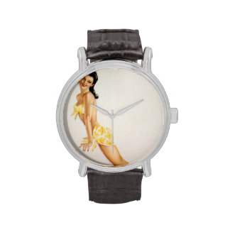 Colorante original 7 del chica modelo del vintage relojes