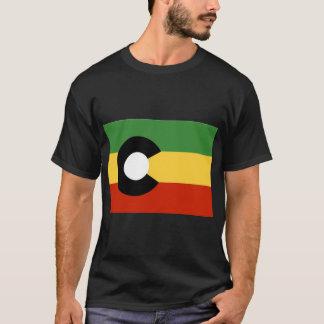 ColoRasta State Flag. ColoRADo fershur. T-Shirt