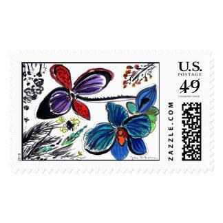 ColorBlackorchids Postage