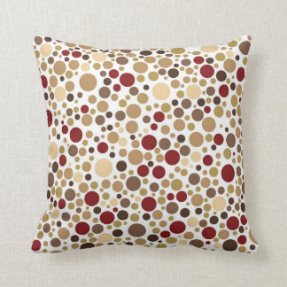 Colorblind Baroque (Brown, Beige & Tan Dots) Throw Pillow