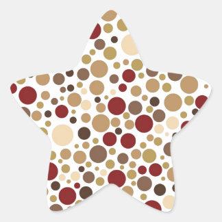Colorblind Baroque (Brown, Tan, Beige Dots) Star Sticker