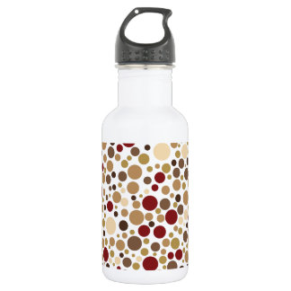 Colorblind Baroque (Brown, Tan, Beige Dots) Water Bottle