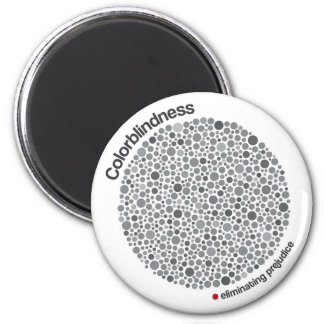 Colorblindness 2 Inch Round Magnet