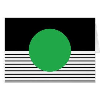 Colorblock blanco negro y círculo verde tarjeta de felicitación