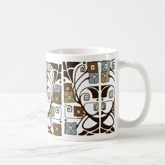 Colorblock Flowers Coffee Mug