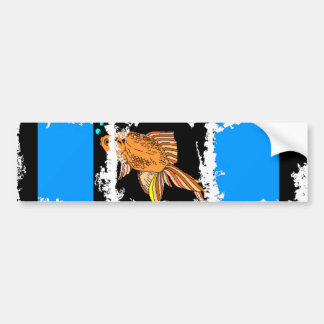 ColorBlock Goldfish Bumper Sticker