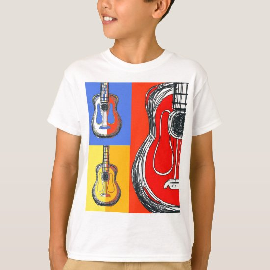 Colorblock Guitars Kids T-Shirt