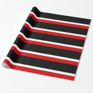 Colorblock negro blanco rojo papel de regalo