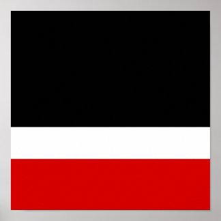 Colorblock negro blanco rojo póster
