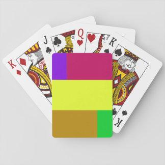 Colorblock púrpura, amarillo, carmesí barajas de cartas