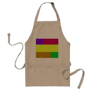 Colorblock púrpura, amarillo, carmesí delantal