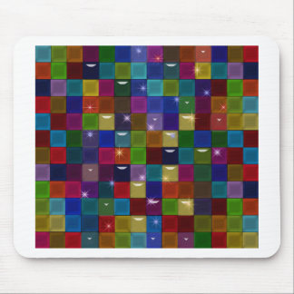 colorblock Spakle Glass Abstract Mouse Pad