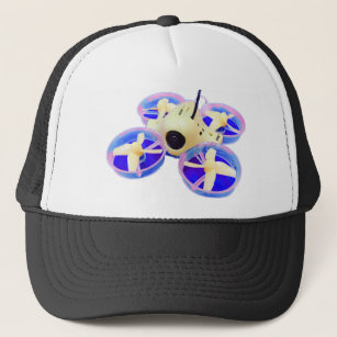 Colorblock Yellow Blue Inductrix Tiny Whoop Drone Trucker Hat c6c94f12bf71