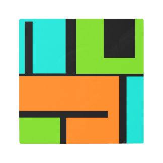 Colorblocked Abstract Art