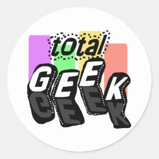 Colorblocks Total Geek Classic Round Sticker