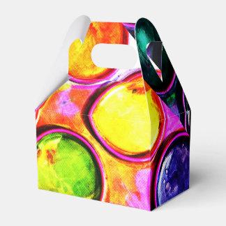 Colorbox colorido de la pintura cajas para detalles de boda