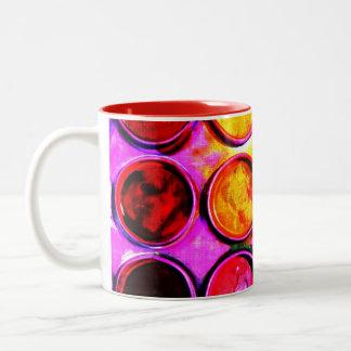 colorbox vibrante de la pintura de la acuarela taza dos tonos