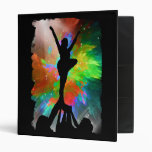 Colorburst Background with Cheerleraders Vinyl Binders