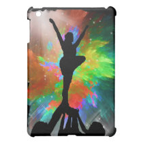 Colorburst Background with Cheerleraders iPad Mini Case