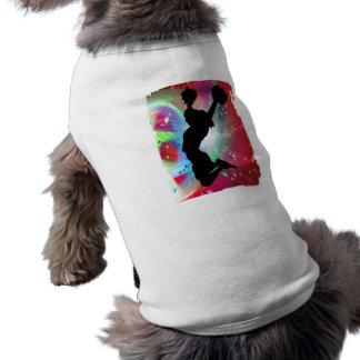 Colorburst circular con la animadora playera sin mangas para perro
