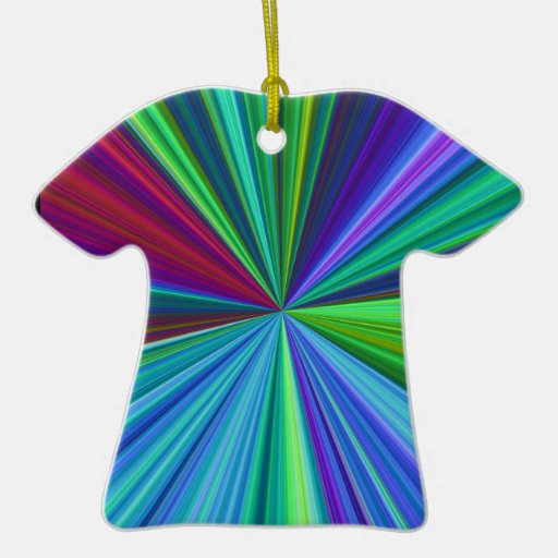 Colorburst Double-Sided T-Shirt Ceramic Christmas Ornament
