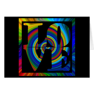 colorburst framed spiral square love cards