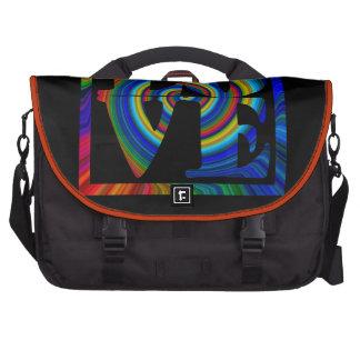 colorburst framed spiral square love carryall laptop messenger bag