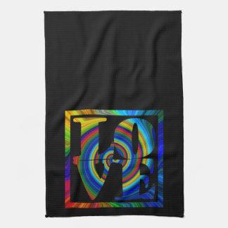 colorburst framed spiral square love towels