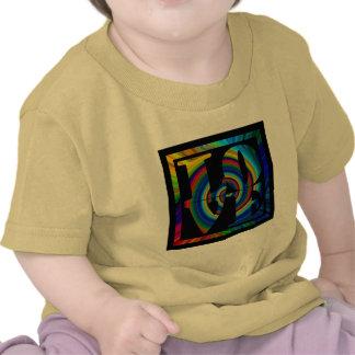 colorburst framed spiral square love tees