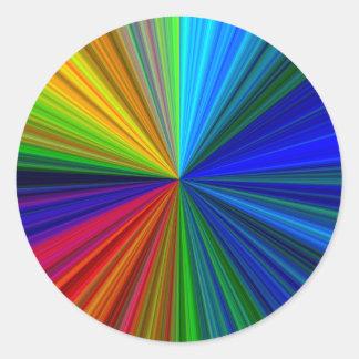 colorburst pegatina redonda