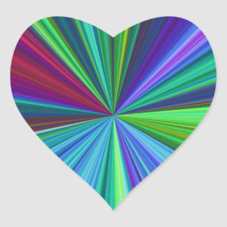 Colorburst Heart Sticker