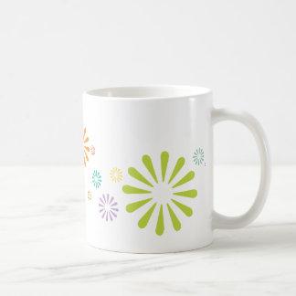 Colorbursts Classic White Coffee Mug