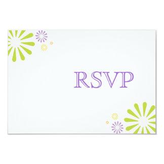 Colorbursts Wedding RSVP Card