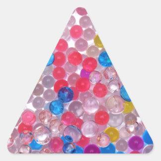colore water balls triangle sticker