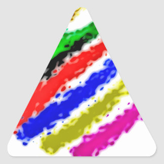 colorea simple pegatina triangular