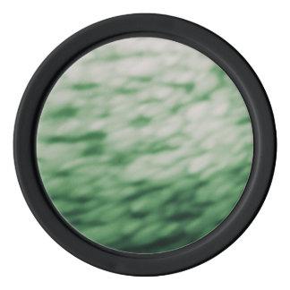 Coloreado debajo del agua se nubla verde abstracto juego de fichas de póquer