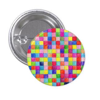 Coloreado en cuadrados del papel cuadriculado chapa redonda 2,5 cm