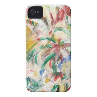 Coloreado Fingerpaint el arte iPhone 4 Case-Mate Carcasa