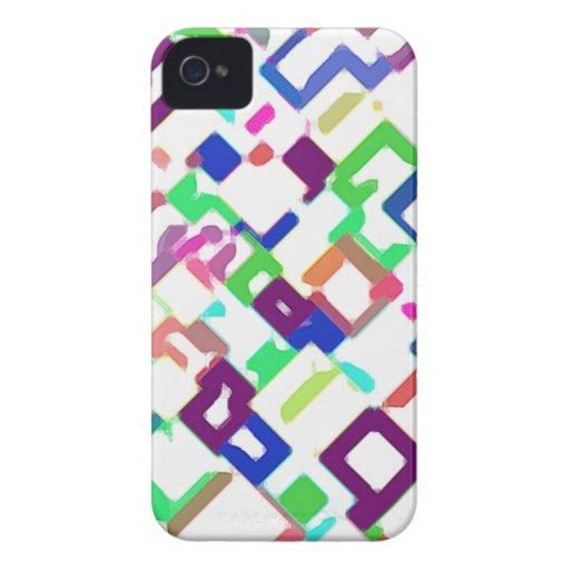 Coloreado interconexión de cuadrados Case-Mate iPhone 4 coberturas