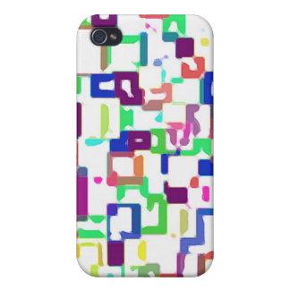 Coloreado interconexión de cuadrados iPhone 4/4S funda