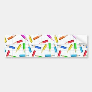 Coloreado representación gráfica de los lápices pegatina para auto